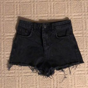 Topshop high waisted jean shorts